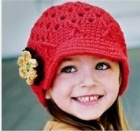 Hand crochet childrens hat
